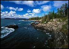 Rocky Lakeshore. Isle Royale National Park, Michigan, USA.