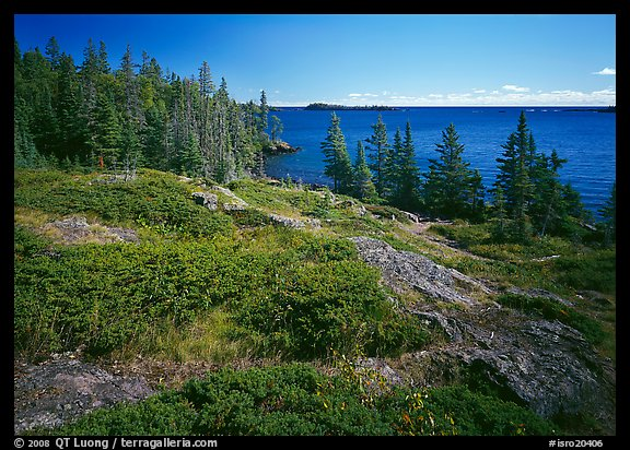 Rock Harbor lakeshore. Isle Royale National Park (color)