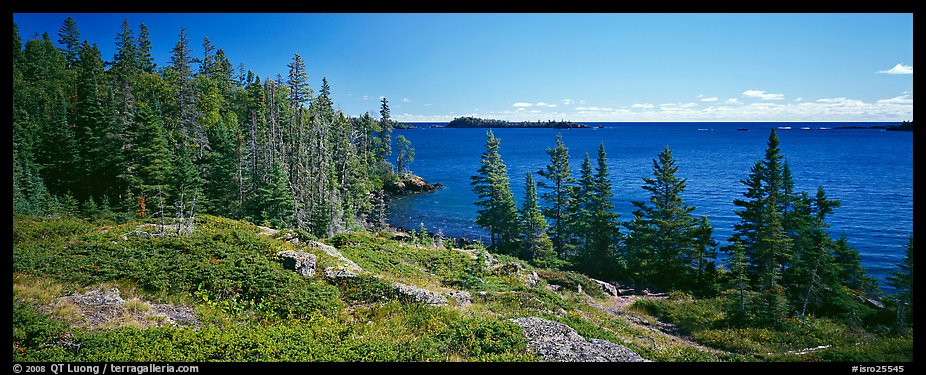 Lakeshore and trees. Isle Royale National Park (color)