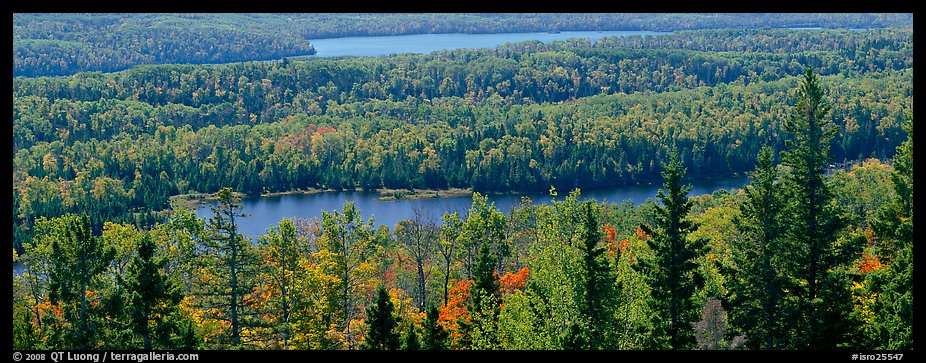 Lakes and forest in autumn. Isle Royale National Park (color)