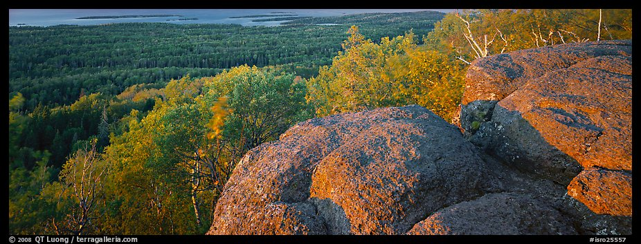 Rocky outcrop with last light. Isle Royale National Park (color)