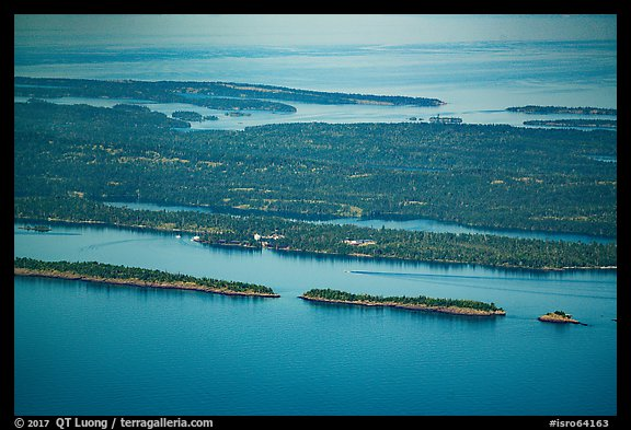 Aerial View of Rock Harbor. Isle Royale National Park (color)