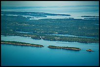 Aerial View of Rock Harbor. Isle Royale National Park ( color)