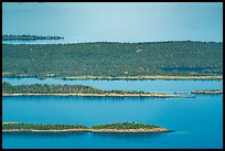 Aerial View of Raspberry Island, Bat Island, and Scoville Point. Isle Royale National Park ( color)