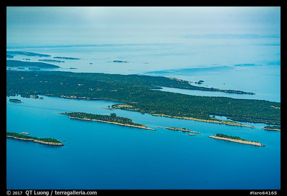 Aerial View of islands and Isle Royale. Isle Royale National Park (color)