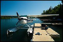 Seaplane dock. Isle Royale National Park ( color)