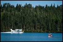 Seaplane and canoe. Isle Royale National Park ( color)