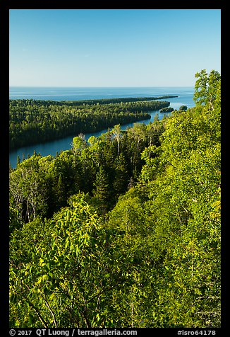 Tip of Isle Royale from Louise Lookout. Isle Royale National Park (color)