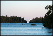 Tobin Harbor, sunset. Isle Royale National Park ( color)