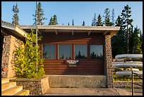 Rock Harbor Visitor Center. Isle Royale National Park ( color)