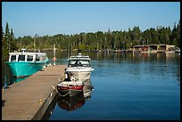 Snug Harbor marina. Isle Royale National Park ( color)