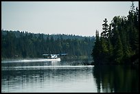 Floatplane take off, Tobin Harbor. Isle Royale National Park ( color)