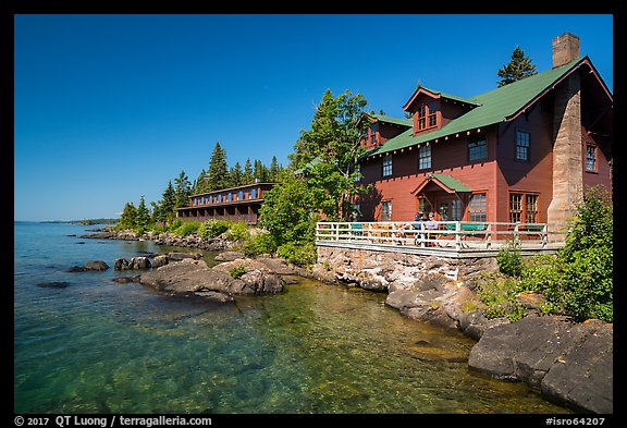 Rock Harbor Lodge. Isle Royale National Park (color)