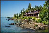 Guest units, Rock Harbor Lodge. Isle Royale National Park ( color)