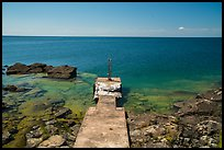 Abandoned dock and clear Lake Superior waters, Passage Island. Isle Royale National Park ( color)