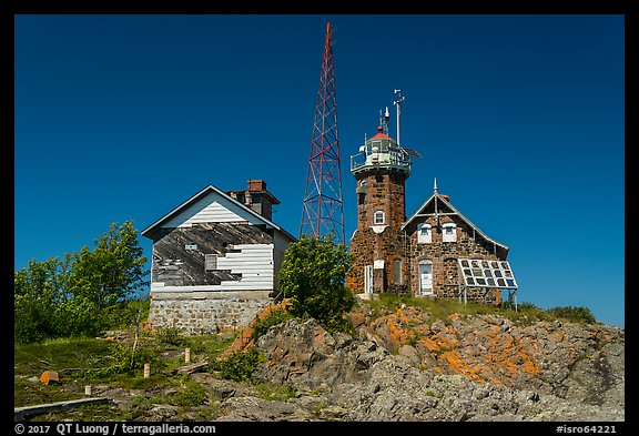 Lighthouse, Passage Island. Isle Royale National Park (color)