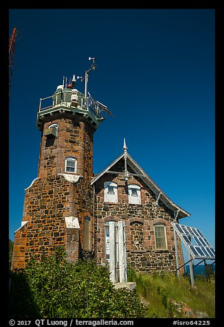 Lighthouse on Passage Island. Isle Royale National Park (color)