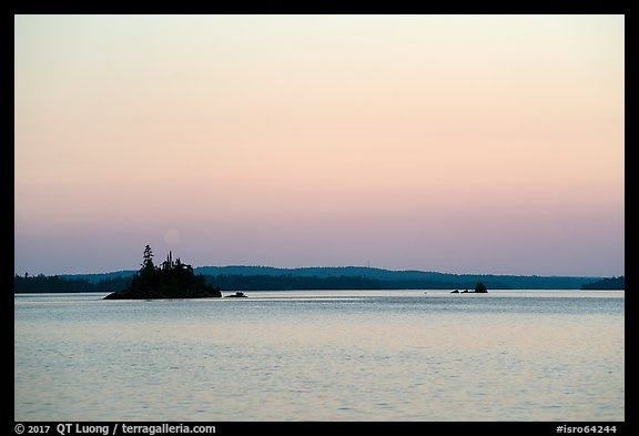 Islets, Rock Harbor, sunset. Isle Royale National Park (color)