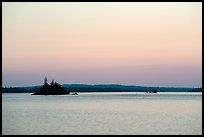 Islets, Rock Harbor, sunset. Isle Royale National Park ( color)