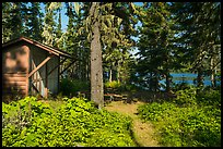 Shelter, Caribou Island. Isle Royale National Park ( color)