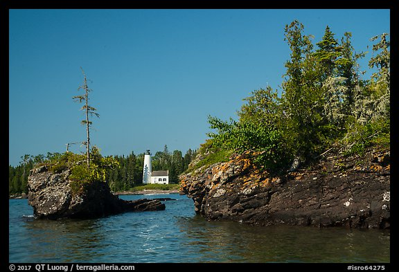 Islets and Rock Harbor Lighthouse. Isle Royale National Park (color)