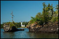 Islets and Rock Harbor Lighthouse. Isle Royale National Park ( color)