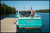 Tour boat Sandy. Isle Royale National Park ( color)