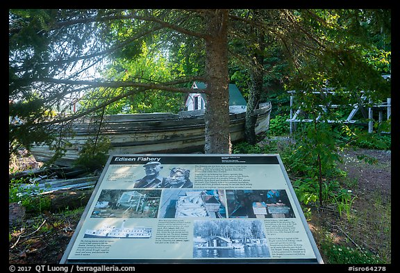 Edisen Fishery interpretive sign. Isle Royale National Park (color)