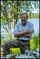 Rolf Peterson, wildlife biologist. Isle Royale National Park ( color)