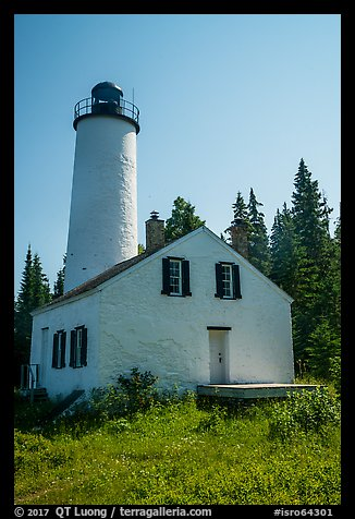 Close view of Rock Harbor Lighthouse. Isle Royale National Park (color)