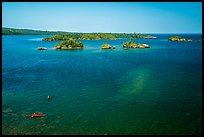 Kayakers and Caribou Island. Isle Royale National Park ( color)