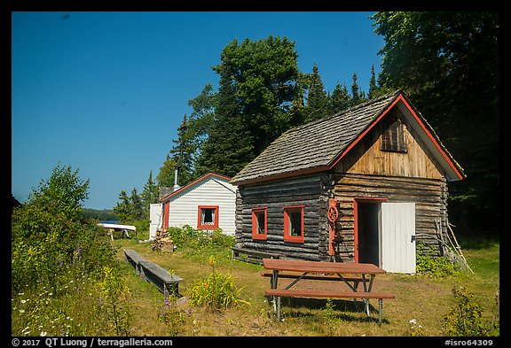 Net House and Edisen Cabin, Edisen Fishery. Isle Royale National Park (color)