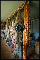Inside Net House, Pete Edisen Fishery. Isle Royale National Park ( color)