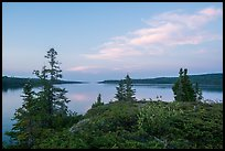 Moskey Basin, evening. Isle Royale National Park ( color)