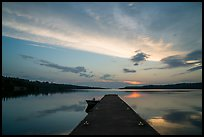 Dock and Moskey Basin, sunrise. Isle Royale National Park ( color)