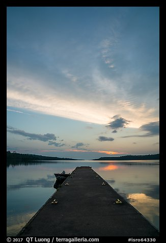 Moskey Basin dock, sunrise. Isle Royale National Park (color)