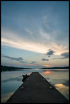 Moskey Basin dock, sunrise. Isle Royale National Park ( color)
