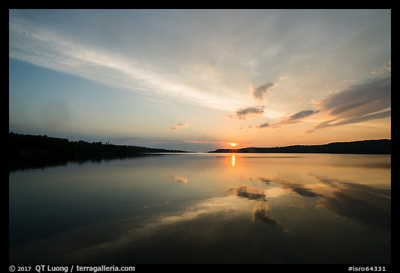 Sun rising over Moskey Basin,. Isle Royale National Park (color)