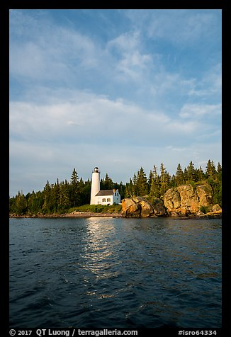 Rock Harbor Lighthouse 1855. Isle Royale National Park (color)