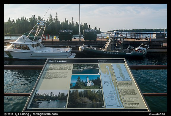 Rock Harbor interpretive sign. Isle Royale National Park (color)