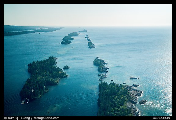 Aerial view of outer islands. Isle Royale National Park (color)