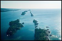Aerial view of outer islands. Isle Royale National Park ( color)