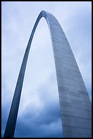 St Louis Arch and cloudy skies. Gateway Arch National Park ( color)