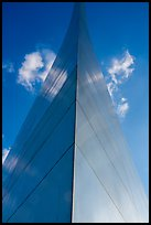 Symmetric view of Arch pillar base with sky. Gateway Arch National Park ( color)