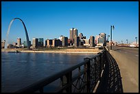 Arch and skyline from Eads Bridge. Gateway Arch National Park ( color)