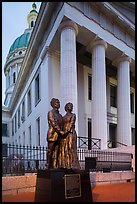 Old Courthouse with statue of Dred and Harriet Scott. Gateway Arch National Park ( color)