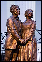 Statue of Dred and Harriet Scott by Harry Weber. Gateway Arch National Park ( color)