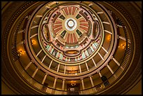 Interior of dome from below, Old Courthouse. Gateway Arch National Park ( color)