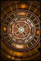 Looking up rotunda and dome, Old Courthouse. Gateway Arch National Park ( color)