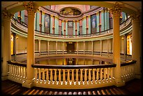 Elaborately decorated interior of Old Courthouse rotunda. Gateway Arch National Park ( color)